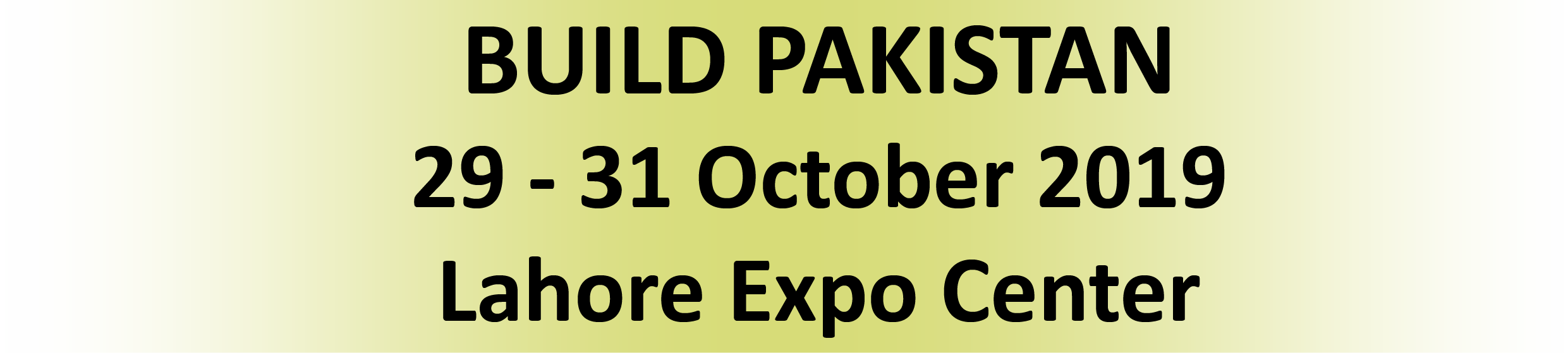 Build Pakistan International Exhibition For Building Construction
